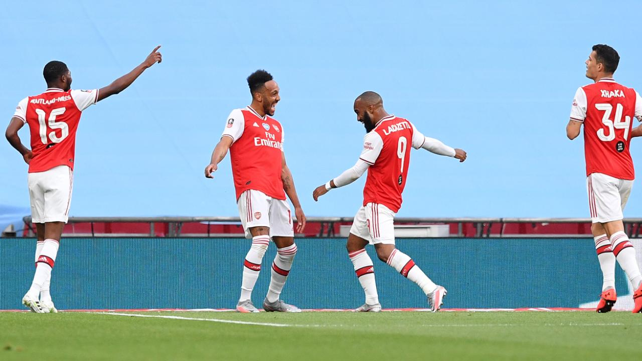 FA-Cup, FC Arsenal - Manchester City: Aubameyang tanzt die Gunners ins Finale - Fussball
