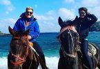 Dieter Bohlen (RTL / DSDS) mit Carina auf einem Strandspaziergang - dann wird es ganz peinlich