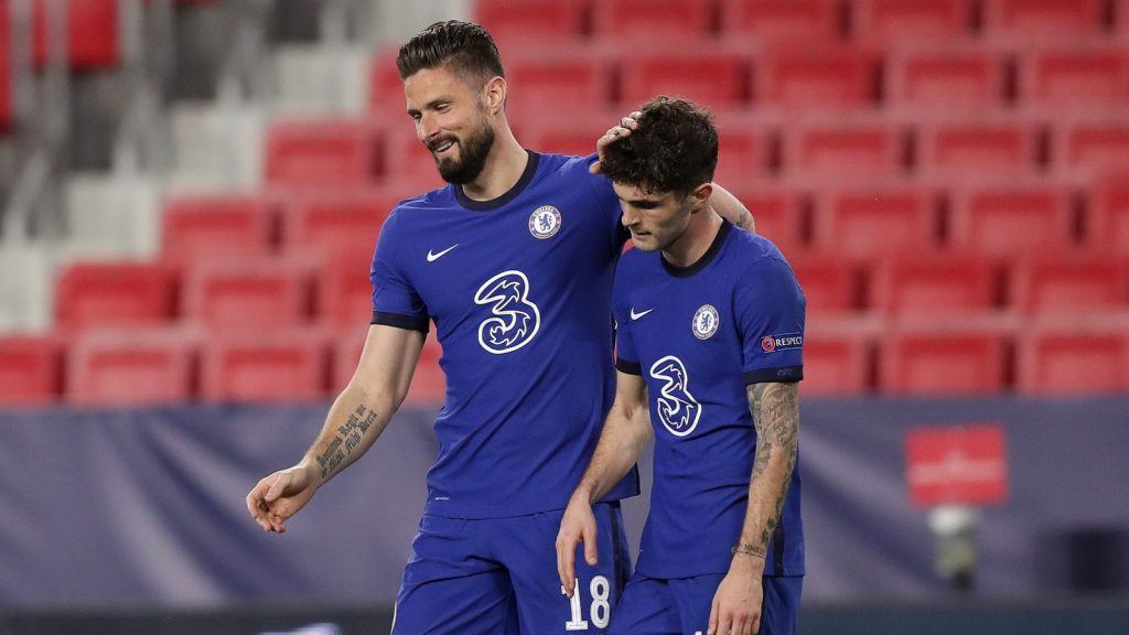 Christian Pulisic (right) epitomised Chelsea's approach against Porto on Tuesday