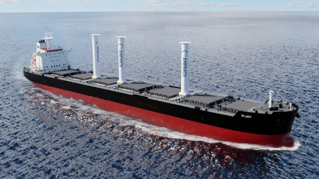 rotor sails on dry bulk carriers