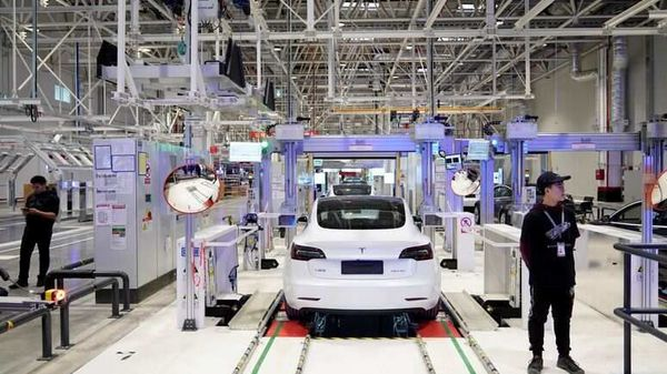 Representational Image: Tesla China-made Model 3 vehicles are seen during a delivery event at its factory in Shanghai, China. (REUTERS)